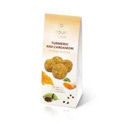 Turmeric and Cardamom Vegan Healthy Truffles - 3 packs of 10 truffles