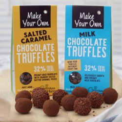 Make Your Own Milk Chocolate and Salted Caramel Truffles