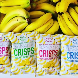 Natural Banana Crisps Mixed Selection Box (Pack of 12, 3 of each flavour)