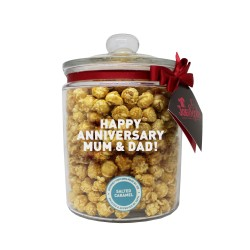 Personalised Gourmet Popcorn Glass Biscotti Jar