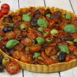 Tomato & Olive Flan (Gluten & Dairy Free)