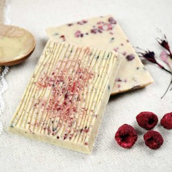 Raspberry, Blueberry and Hibiscus | Vegan White Chocolate (4 Bars)