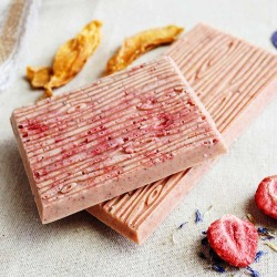 Strawberry, Mango and Cornflower | Vegan White Chocolate (4 Bars)