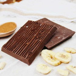 Banana, Peanuts and Salted Caramel | Vegan Chocolate (4 Bars)