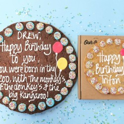 "12"" Happy Birthday Blue Giant Cookie Card"