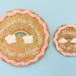 "12"" Rainbow Giant Cookie Card"