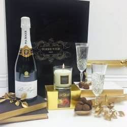 Luxury Pol Roger Champagne and Candle Gift Box