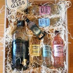 Luxury Scottish 70cl Sea Glass Gin & Tonic Hamper