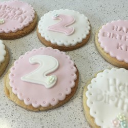 Hand Decorated Personalised Vanilla Gift Biscuits