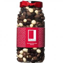 Assorted Chocolate Coated Raisins Gift Jar
