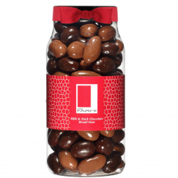 Milk & Plain Chocolate Coated Brazil Nuts Gourmet Gift Jar