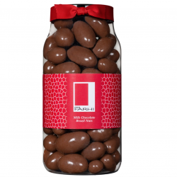 Rita Farhi Milk Chocolate Coated Brazil Nuts in a Gourmet Gift Jar
