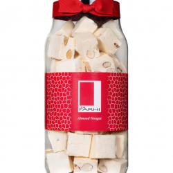 Traditional Almond Nougat in a Gift Jar