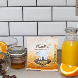 Vegan Chocolate Orange Crunchy Squares (10 Bag Case)