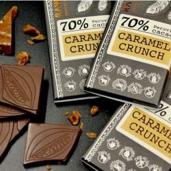 Raw Caramel Crunch 70% (5 Bars)