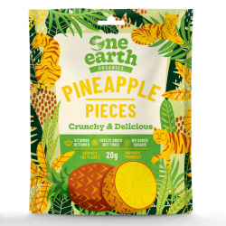 Organic Freezedried Pineapple Chunks 20g (Pack of 14)