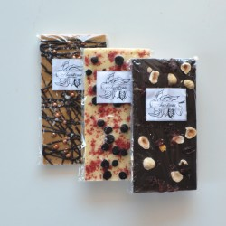 Ruby, dark and white chocolate selection box
