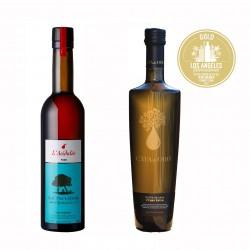 Artisan Pear Vinegar & Extra Virgin Olive Oil - 2 Bottles Set