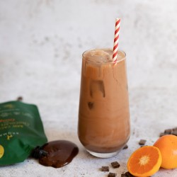 Vegan and Organic Raw Cacao Chocolate Sauce with Orange