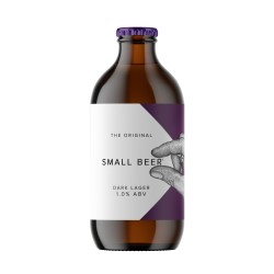 Small Beer Dark Lager - Lower Alcohol Beer 1.0% ABV (24 Bottles)
