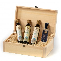 Olive Oil Tasting Case In A Wooden Box
