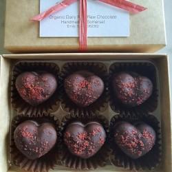 Organic Raw Raspberry Coconut Truffles