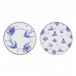 Blue And White Large Paper Plates (Pack of 16)