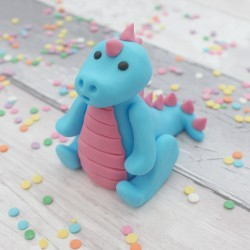 Blue and Pink Dinosaur Cake Topper