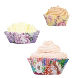 Scrumptious Floral Cupcake Cases (Set of 60)