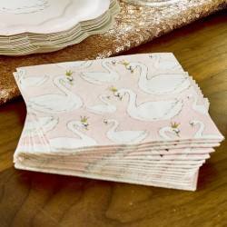 Swan Paper Napkins (Pack Of 16)