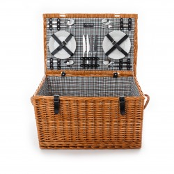 The Cambridge 4 Person 'Deep' Fitted Picnic Hamper