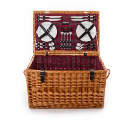 The Gleneagles 4 Person 'Deep' Fully Fitted Picnic Hamper