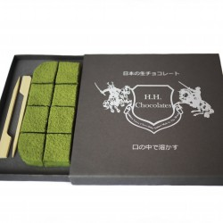 Handmade Matcha Green Tea Japanese Nama Chocolate Truffles (16 Pavé Pieces)
