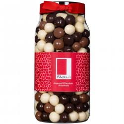 Assorted Chocolate Coated Hazelnuts Gift Jar