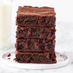 Triple Chocolate Brownies and Ferrero Rocher Chocolate Hazelnut Spread Bundle