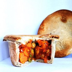 Vegan Vulcan Munch Pies | Curried Sweet Potato and Chickpeas (5 Pies)