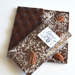 Low Sugar Milk Chocolate Bar topped with Pecan Nuts and Coconut. Only 1% sugar. | 3 Bars