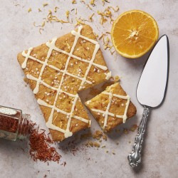 Orange Drizzle Letterbox Cake (made without Dairy and Gluten ingredients)