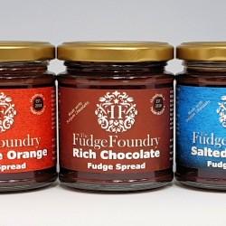 Trio Of Delicious Belgian Chocolate Fudge Spreads