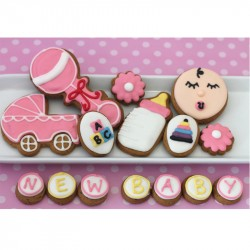 Baby Girl Biscuit Gift Tin (Box of 15)
