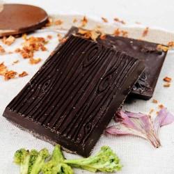 Broccoli, Pumpkin and Hibiscus   Dark Chocolate (4 Bars)