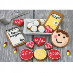Get Well Soon Biscuit Gift Tin (Box of 16)