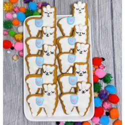 Hand Decorated Biscuits | Llama Party (Pack of 10)