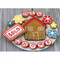 New Home Biscuit Gift Tin (Box of 15)