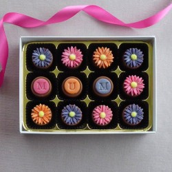 Bright Daisies - Personalised Handmade Marzipan Chocolates