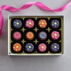 Bright Daisies - handmade marzipan chocolates