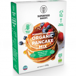 Morning Dreamers Organic Pancake Mix : Organic, Gluten Free, Dairy Free, Vegan Friendly and Deliciously All-Natural Pancake Mix (Makes 12 Pancakes)