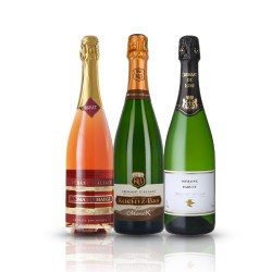 Crémant Gift Box - 3 Bottles of French Organic Sparkling Wine