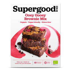 Ooey Gooey Brownie Mix: Gluten Free, Dairy Free, Vegan Friendly and Deliciously All-Natural Brownie Mix (Makes 12 Brownies)