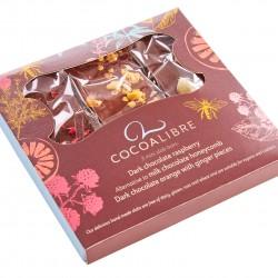 Mini Chocolate Slabs Gift Set 120g (Honeycomb, Raspberry, Orange & Ginger) | Dairy Free Vegan